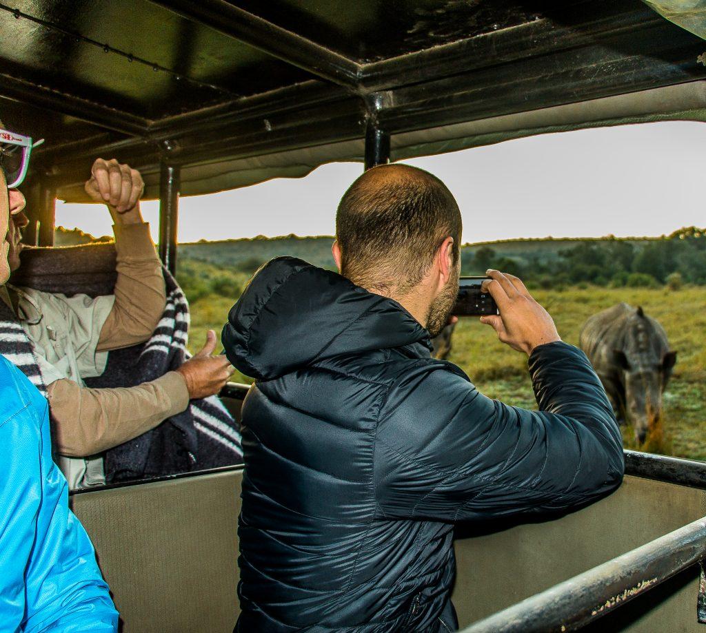 clients on safari