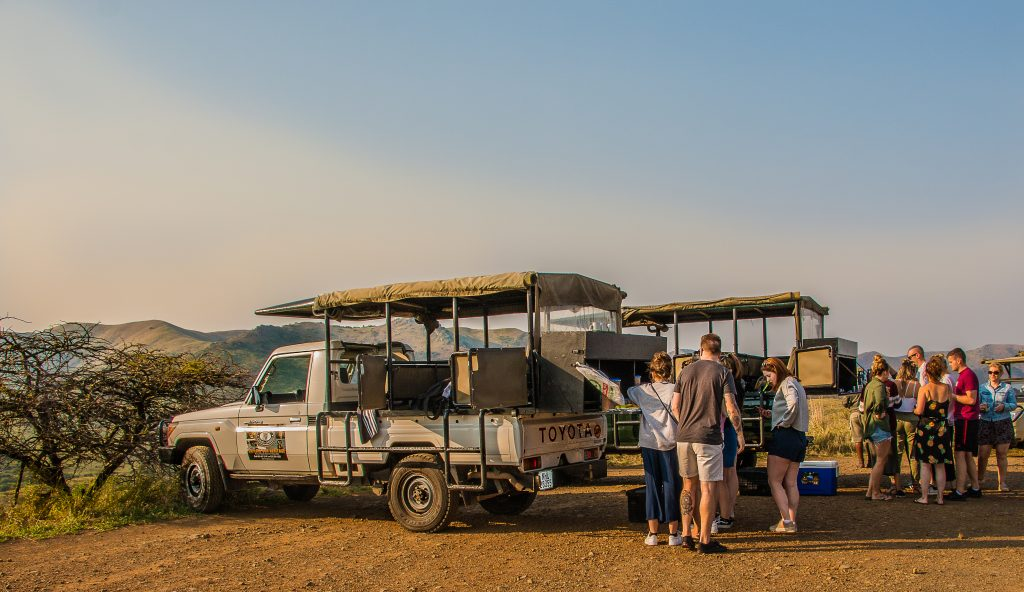 clients on safari and ranger