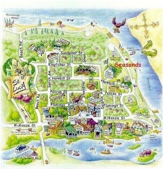 st lucia town information and map